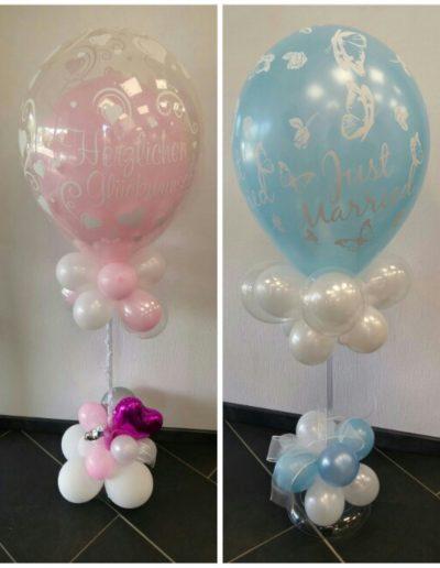 Ballonsäulen als Tischdeko, je 34€