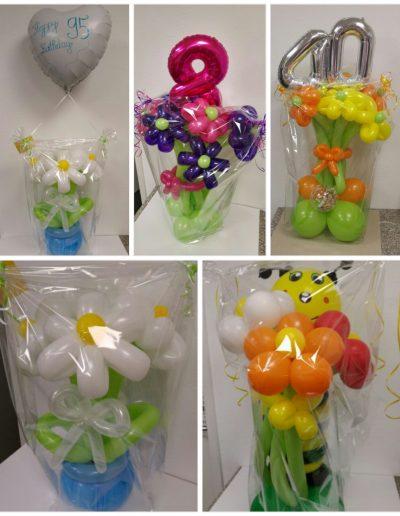 Blumenstrauß mit Ballons