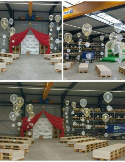 Raumdeko mit Latexballons in 30cm und 40cm.